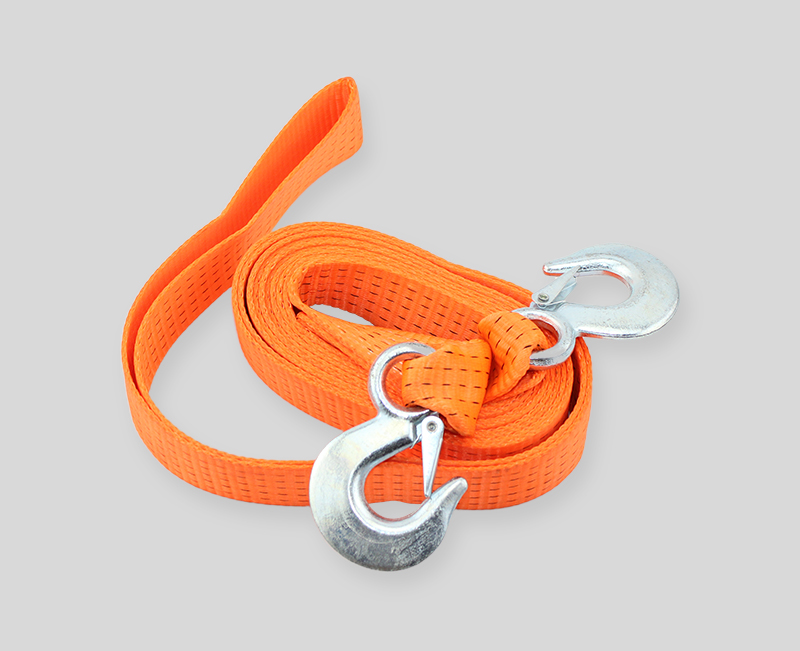 orange without black edges tow straps - 2 width