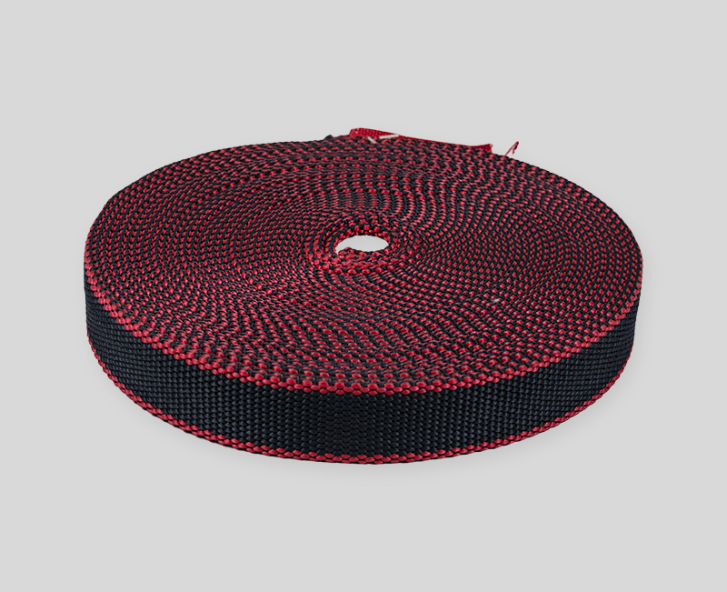 webbing design - black body red border